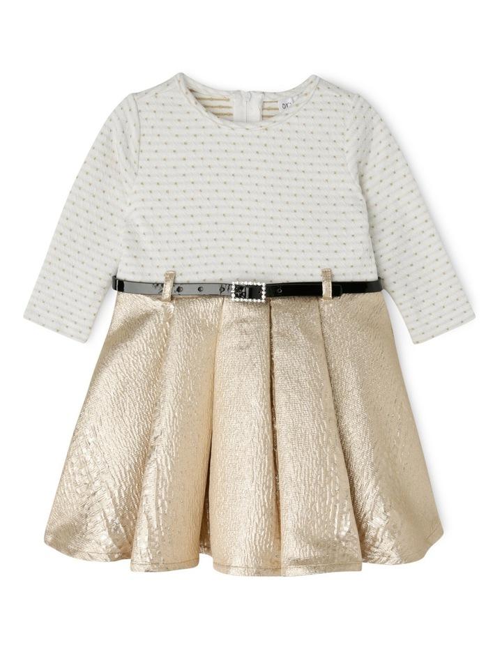 TG Gold Skirt Dress With Belt 0-2 image 1