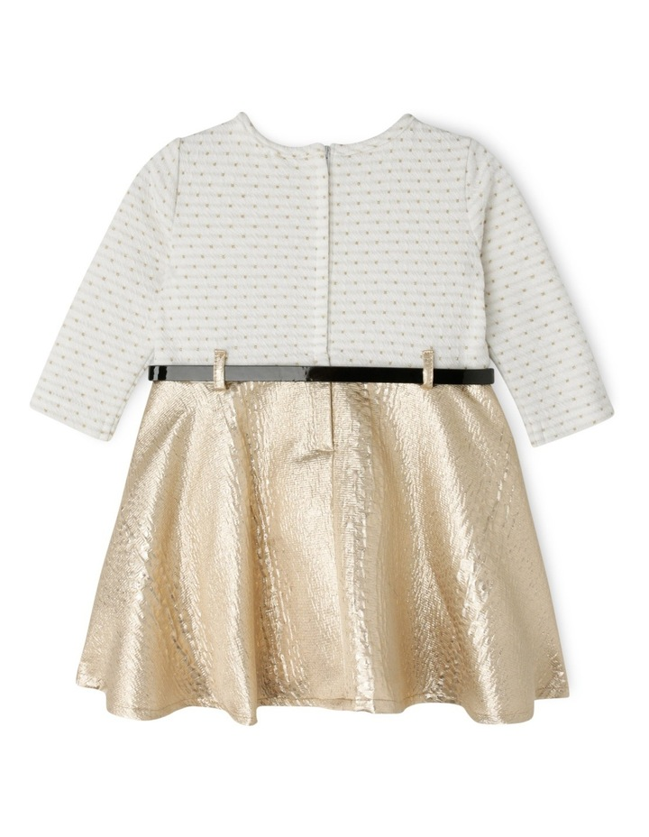 TG Gold Skirt Dress With Belt 0-2 image 2