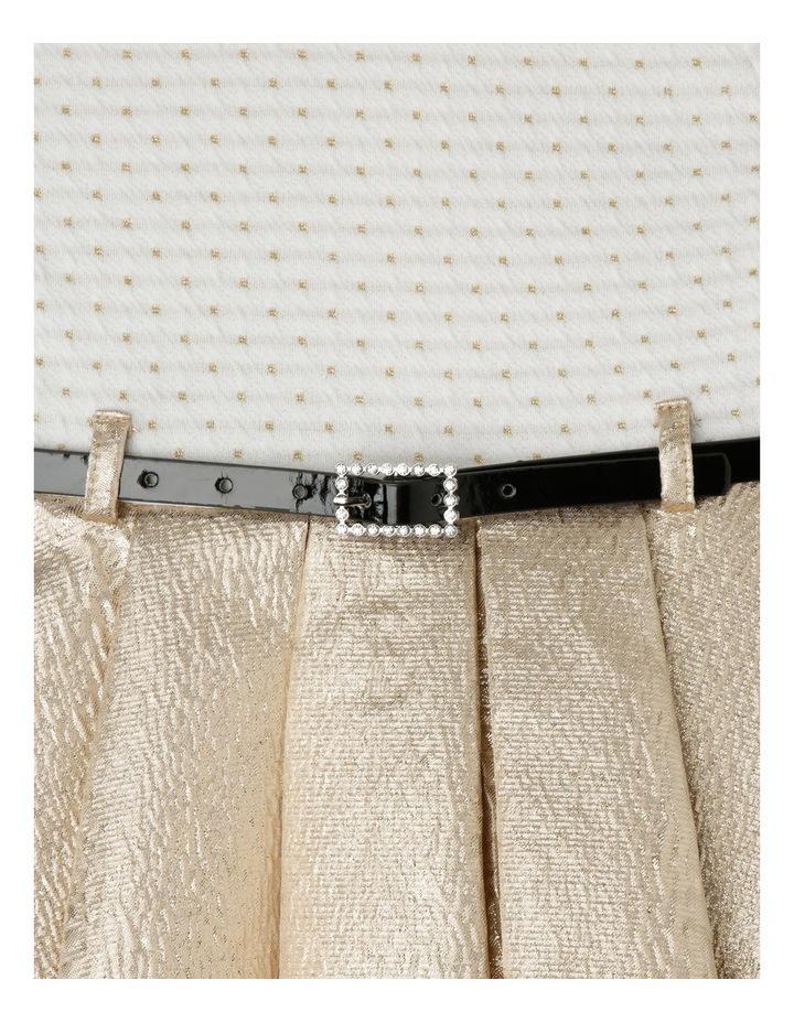 TG Gold Skirt Dress With Belt 0-2 image 3
