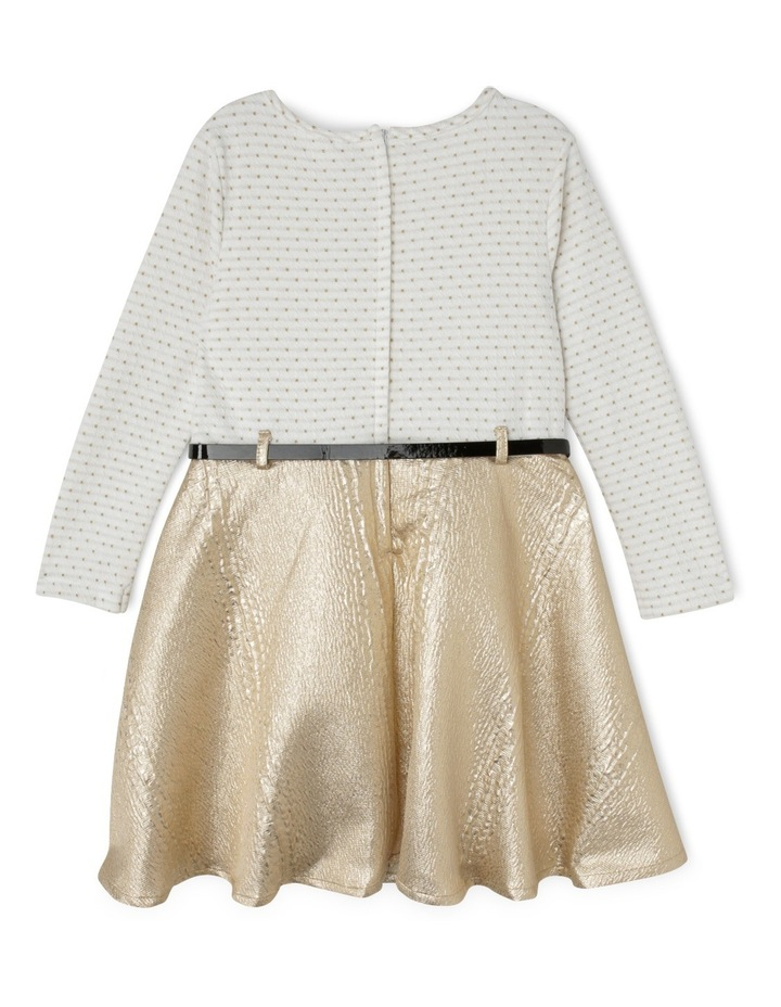 Gold Skirt Dress With Belt 3-8 image 2