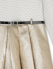 Origami - Gold Skirt Dress With Belt 3-8