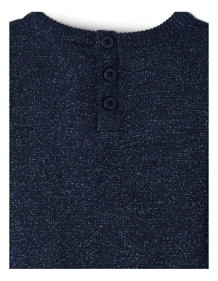TG NAVY FF KNIT DRESS WITH DIAMONTE COLLAR 0-2 image 4