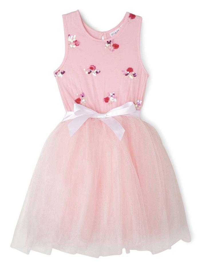 Pink Sequin Bouquet Tutu Junior 3-8 image 1