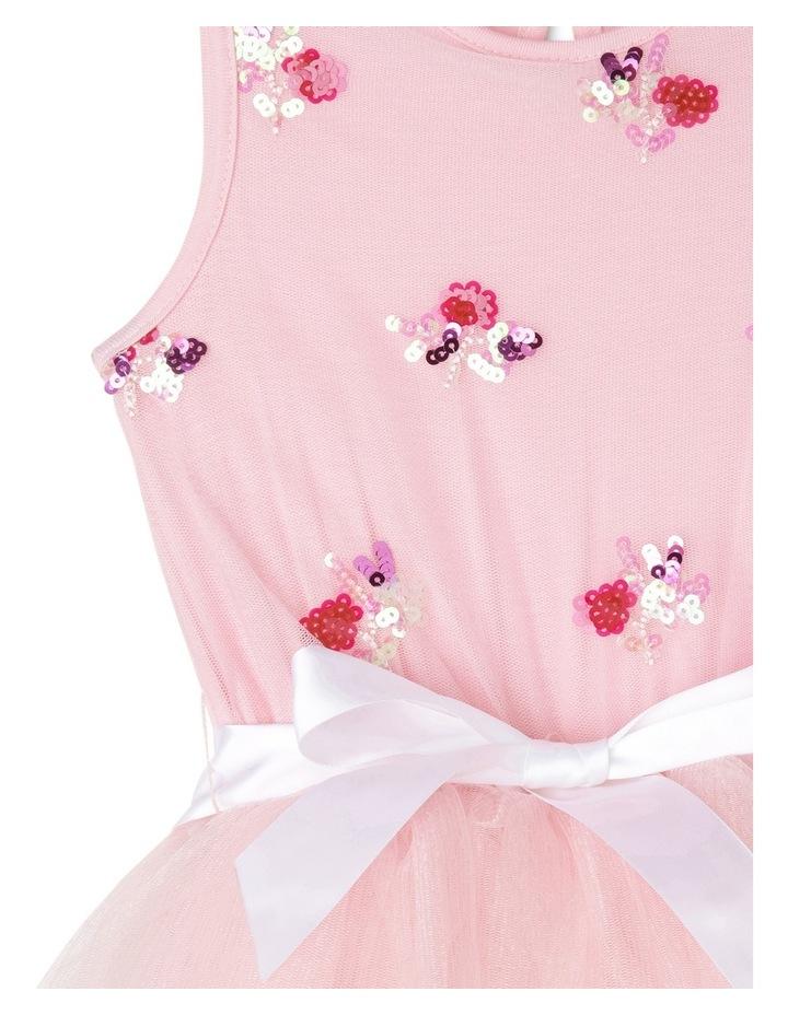 Pink Sequin Bouquet Tutu Junior 3-8 image 2
