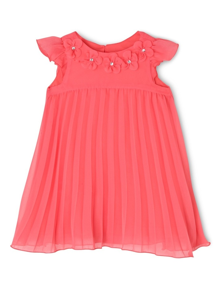 Chloe Woven Pleated Dress (0-2 Years) image 1