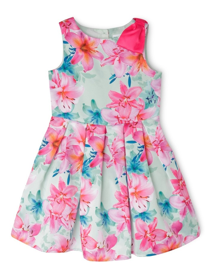 Abigail Woven Dress With Bow (3-8 Years) image 1