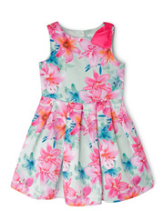Abigail Woven Dress With Bow (3-8 Years)