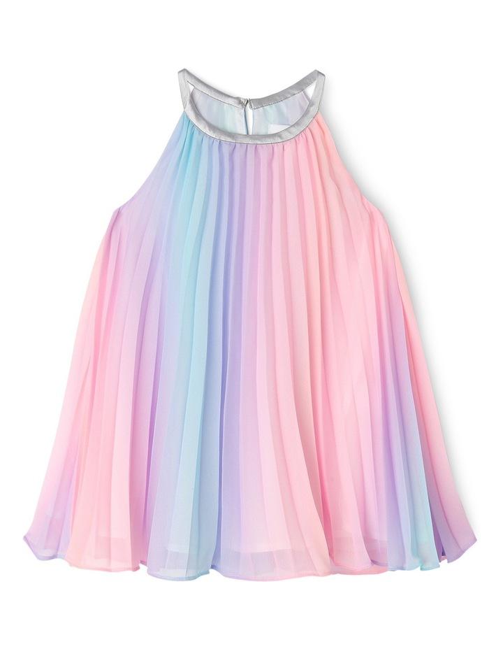 Rae Rainbow Woven Pleated Dress (0-2 Years) image 1