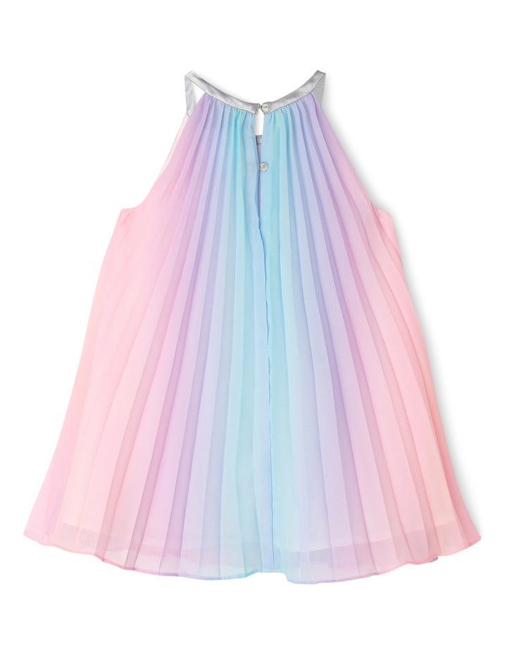 Rae Rainbow Woven Pleated Dress (0-2 Years) image 2