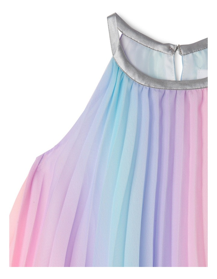 Rae Rainbow Woven Pleated Dress (0-2 Years) image 3