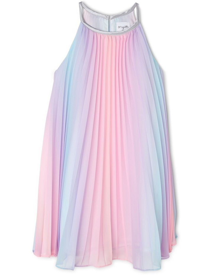Rae Rainbow Woven Pleated Dress (3-8 Years) image 1