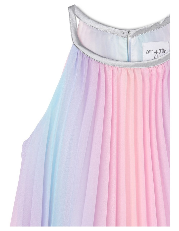 Rae Rainbow Woven Pleated Dress (3-8 Years) image 2