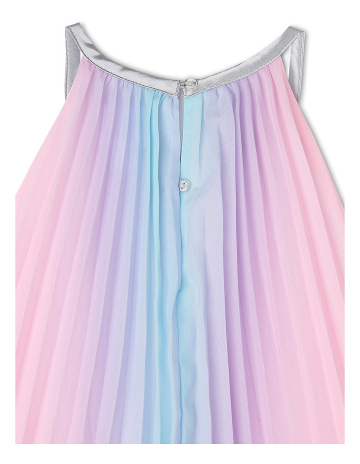Rae Rainbow Woven Pleated Dress (3-8 Years) image 3