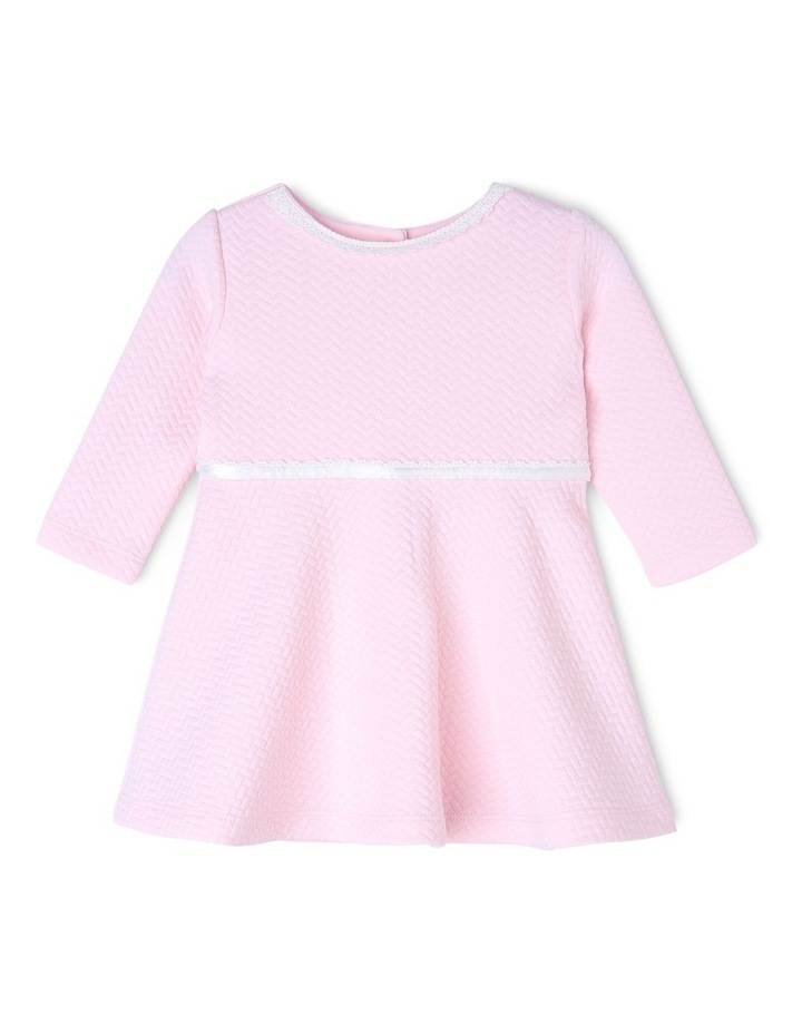 AUDREY PINK PEARL KNIT DRESS (0-2 YEARS) image 1