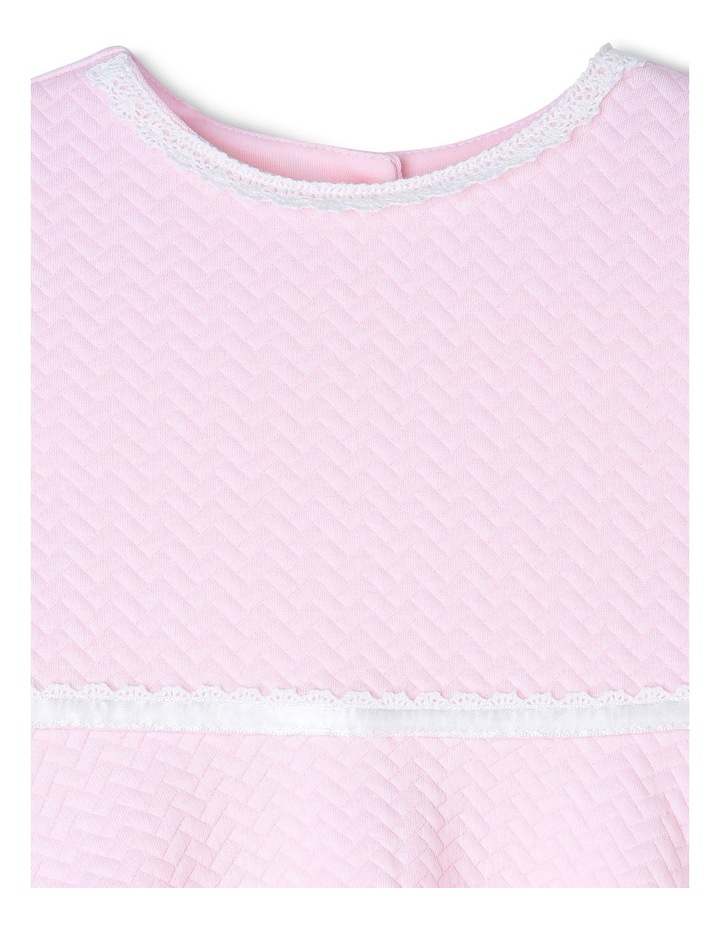AUDREY PINK PEARL KNIT DRESS (0-2 YEARS) image 2