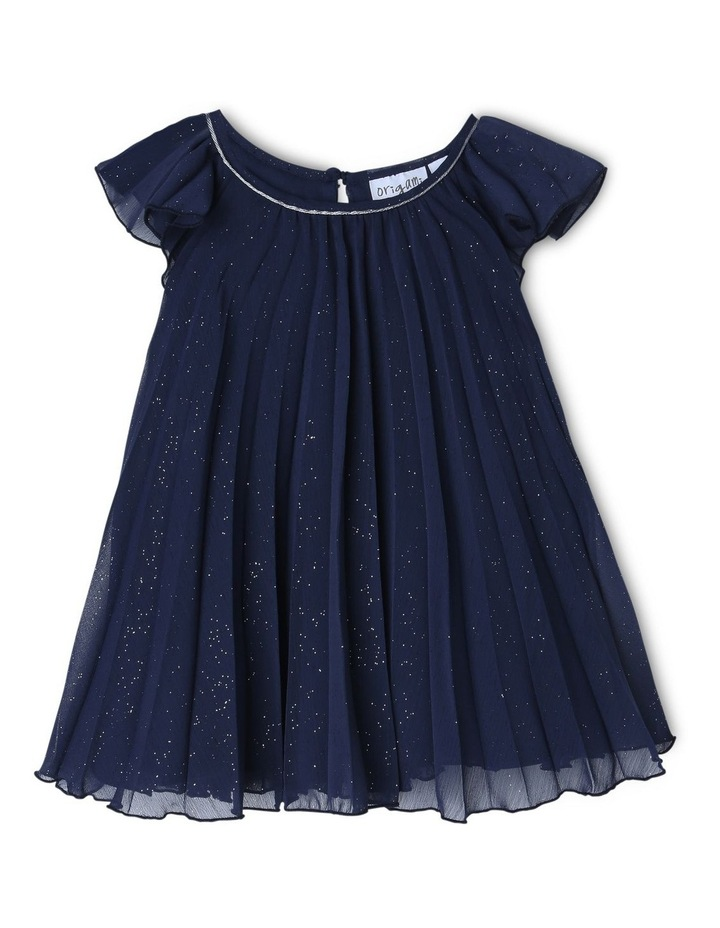 SOPHIA NAVY SPARKLE WOVEN DRESS (0-2 YEARS) image 1