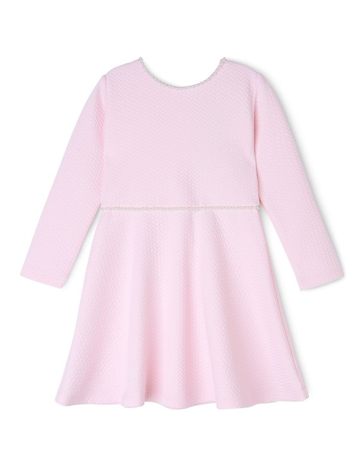 AUDREY PINK PEARL KNIT DRESS (3-8 YEARS) image 1