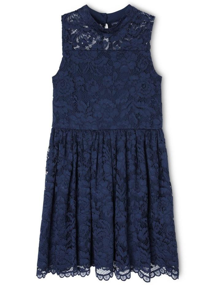 ELLA NAVY LACE DRESS (9-16 YEARS) image 1