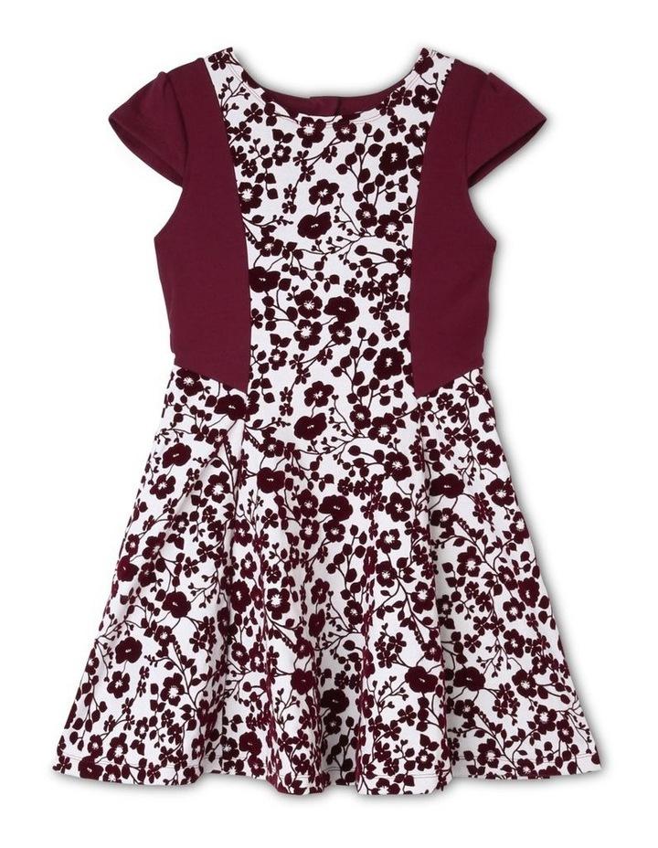 Olivia Flocked Dress (9-16 Years) image 1