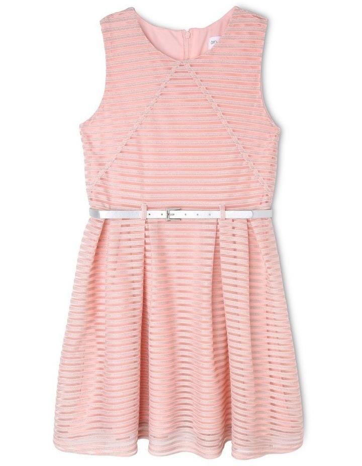 Sophie Glitter Stripe Dress (9-16 Years) image 1