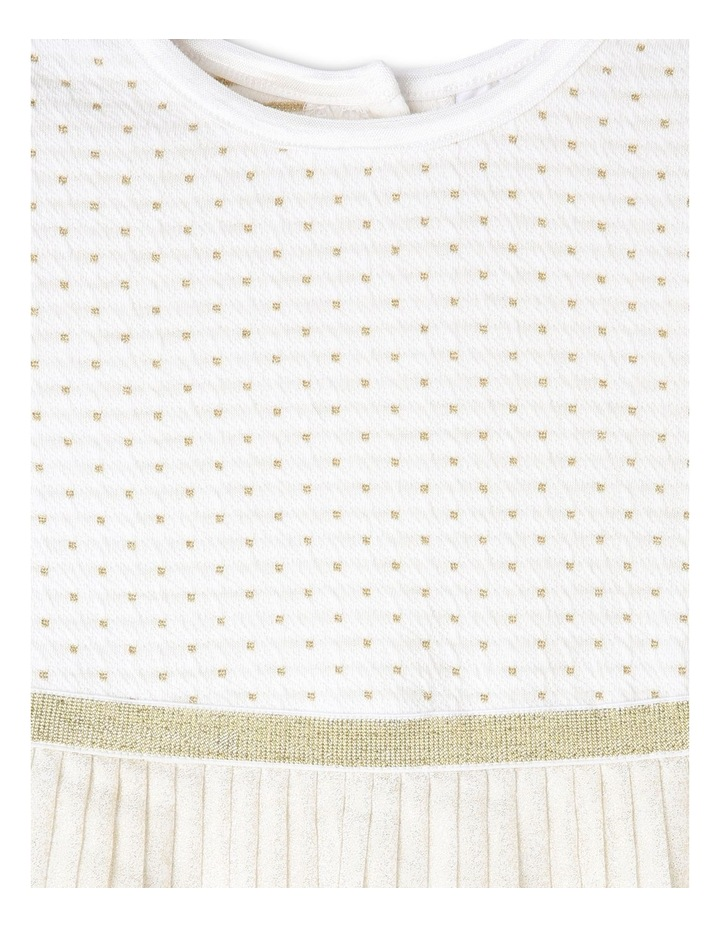 MIA IVORY AND GOLD PARTY DRESS (0-2 YEARS) image 2
