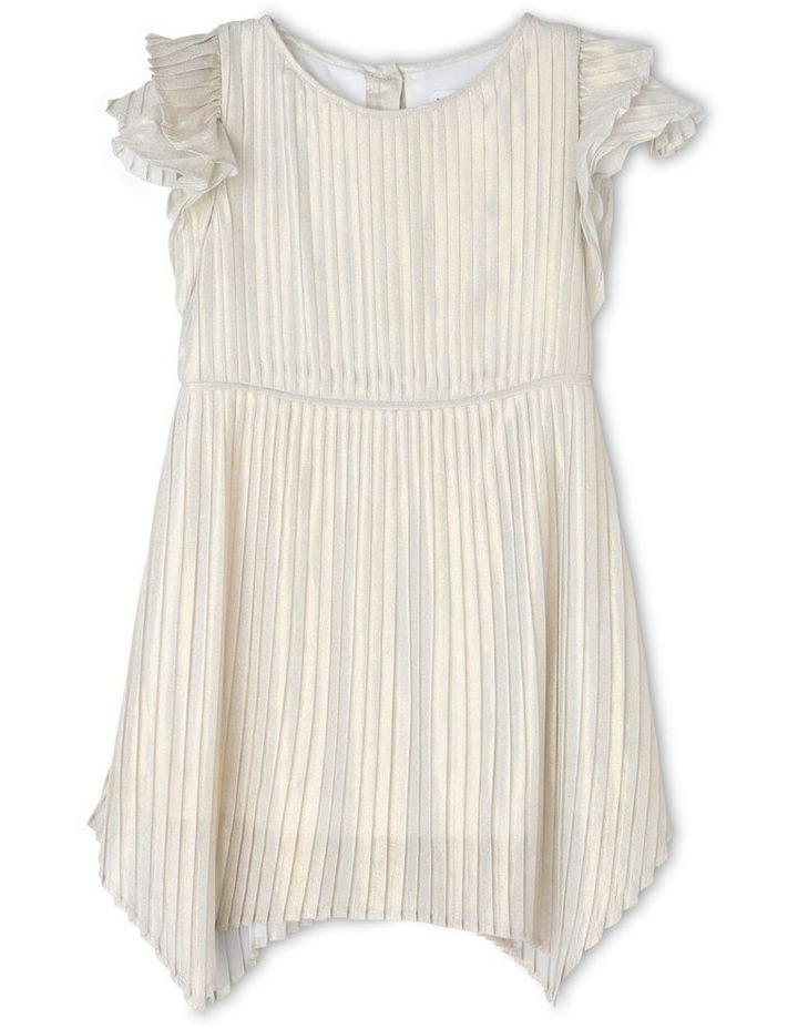Mia Ivory and Gold Woven Party Dress (3-8 Years) image 1