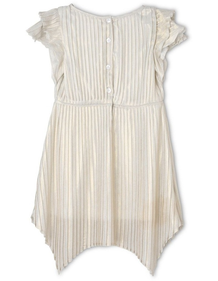 Mia Ivory and Gold Woven Party Dress (3-8 Years) image 2