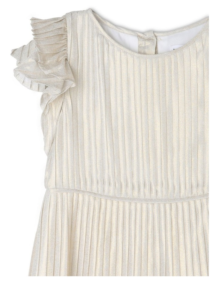Mia Ivory and Gold Woven Party Dress (3-8 Years) image 3