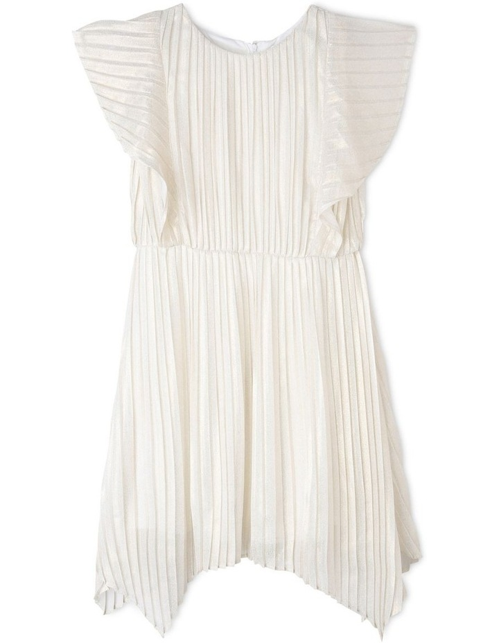 MIA IVORY AND GOLD WOVEN PARTY DRESS (9-16 YEARS) image 1