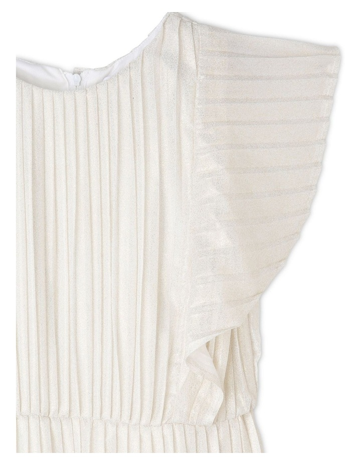 MIA IVORY AND GOLD WOVEN PARTY DRESS (9-16 YEARS) image 2