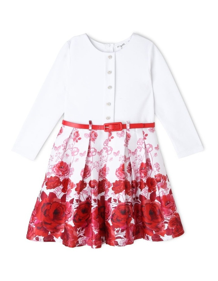 Willow Ivory and Floral Print Dress (3-8 Years) image 1