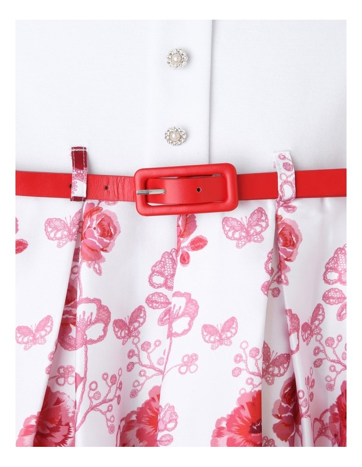 Willow Ivory and Floral Print Dress (3-8 Years) image 2
