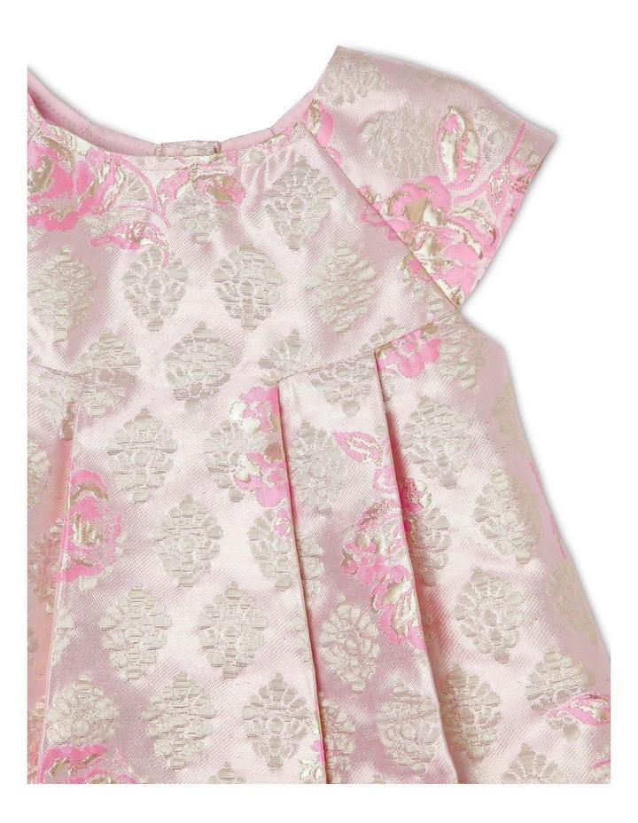 Poppy Gold Lurex Dress (0-2 Years) image 3