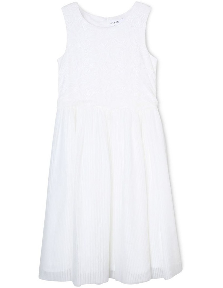White Label Pleated Flower Girl Dress (9-16 Years) image 1