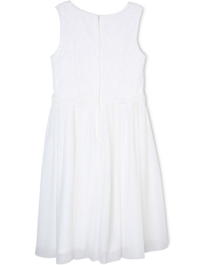 White Label Pleated Flower Girl Dress (9-16 Years) image 2