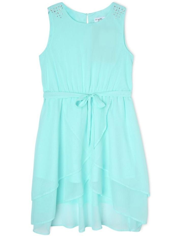 Isla Mint Layered Chiffon Dress (9-16 Years) image 1