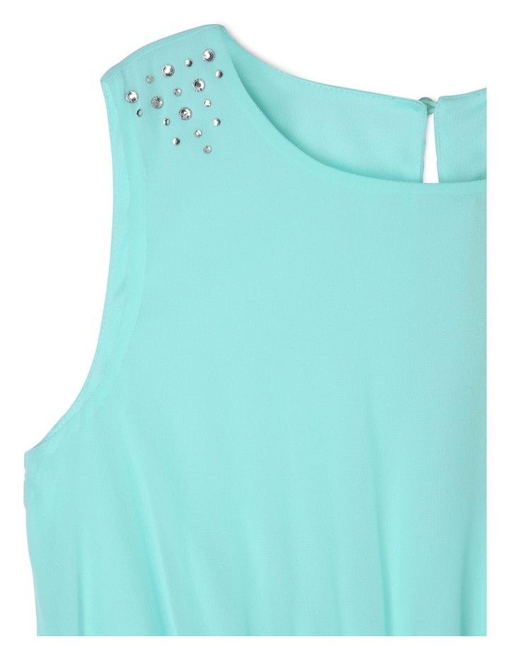 Isla Mint Layered Chiffon Dress (9-16 Years) image 2
