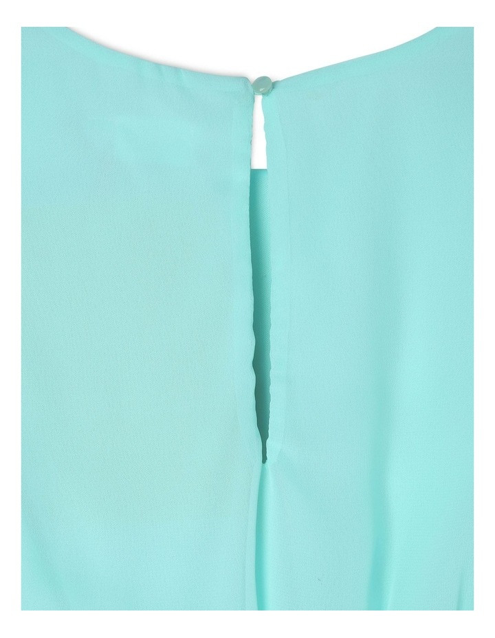 Isla Mint Layered Chiffon Dress (9-16 Years) image 4