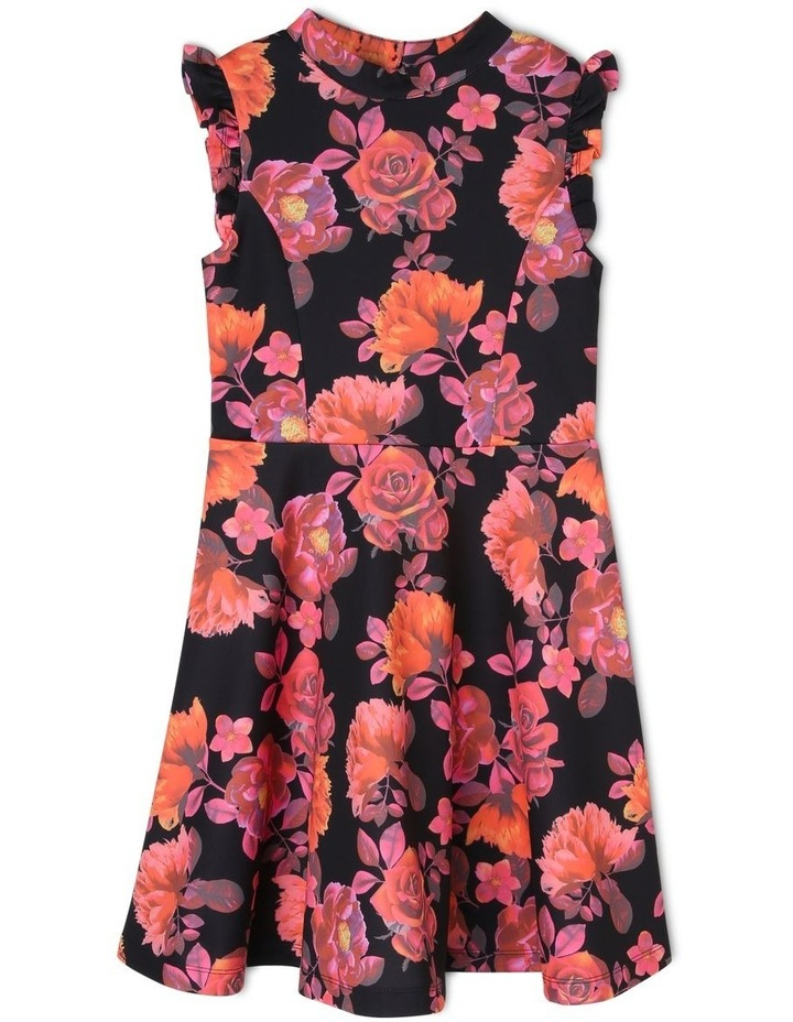 Iris Floral Scuba Dress (9-16 Years) image 1