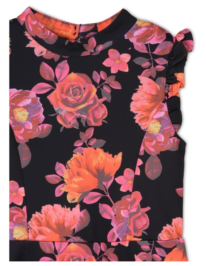 Iris Floral Scuba Dress (9-16 Years) image 3