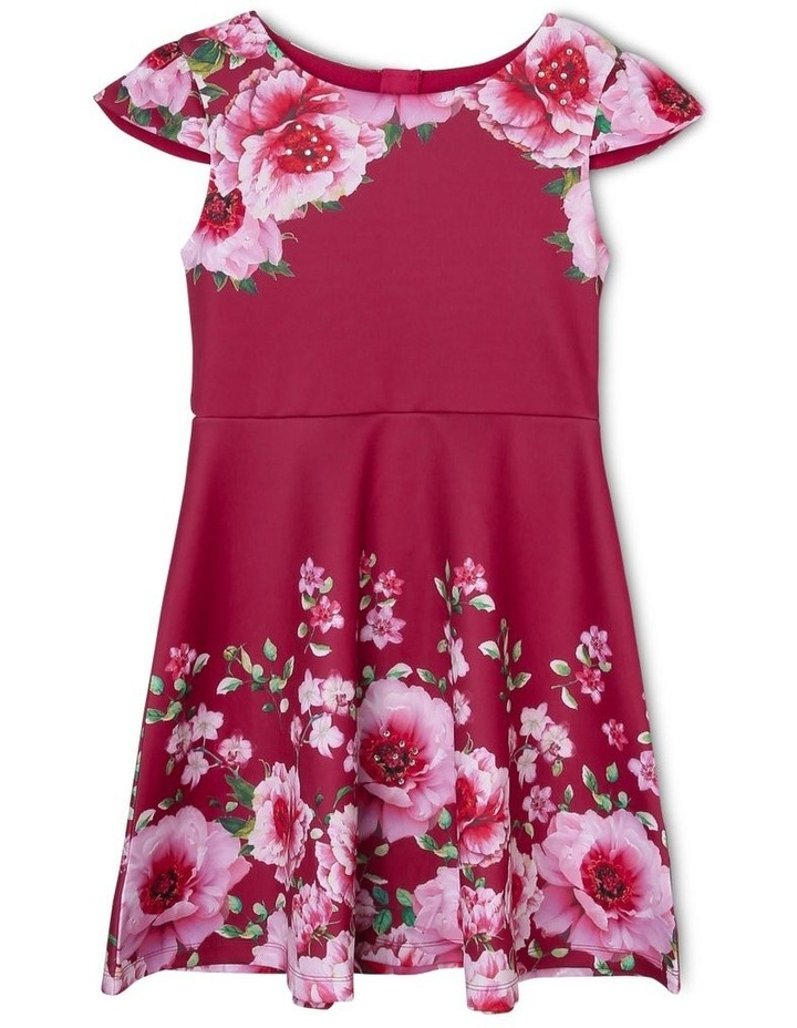 Amelia Floral Scuba Dress (9-16 Years) image 1