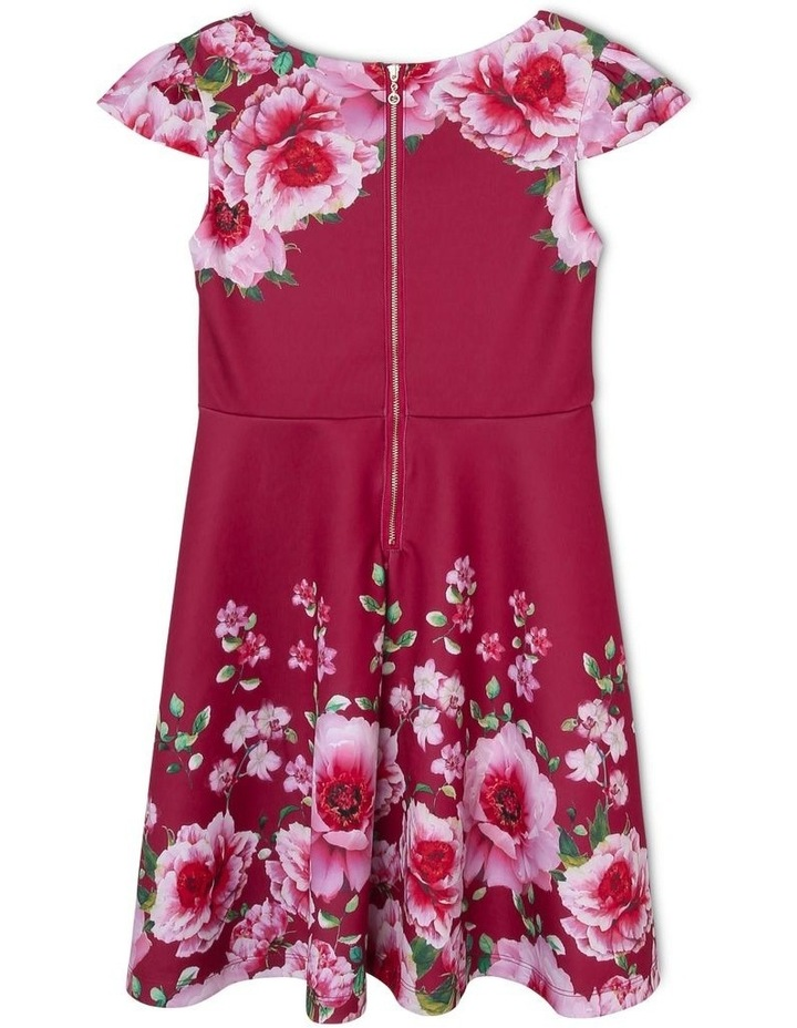 Amelia Floral Scuba Dress (9-16 Years) image 2