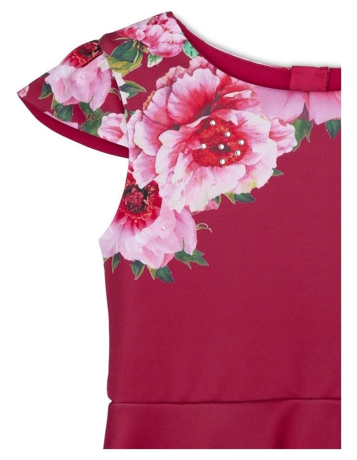 Amelia Floral Scuba Dress (9-16 Years) image 3