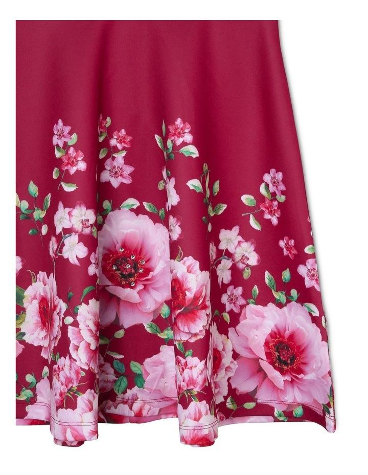 Amelia Floral Scuba Dress (9-16 Years) image 4
