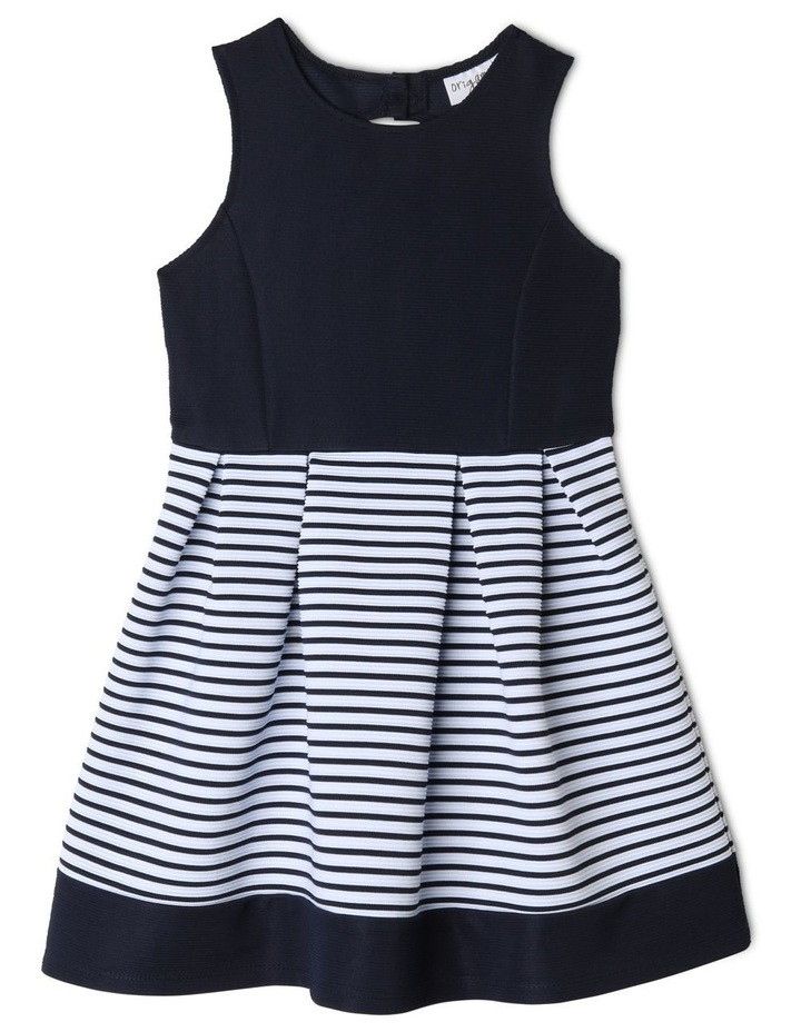 Annabelle Knitted Stripe Dress (3-8 Years) image 1