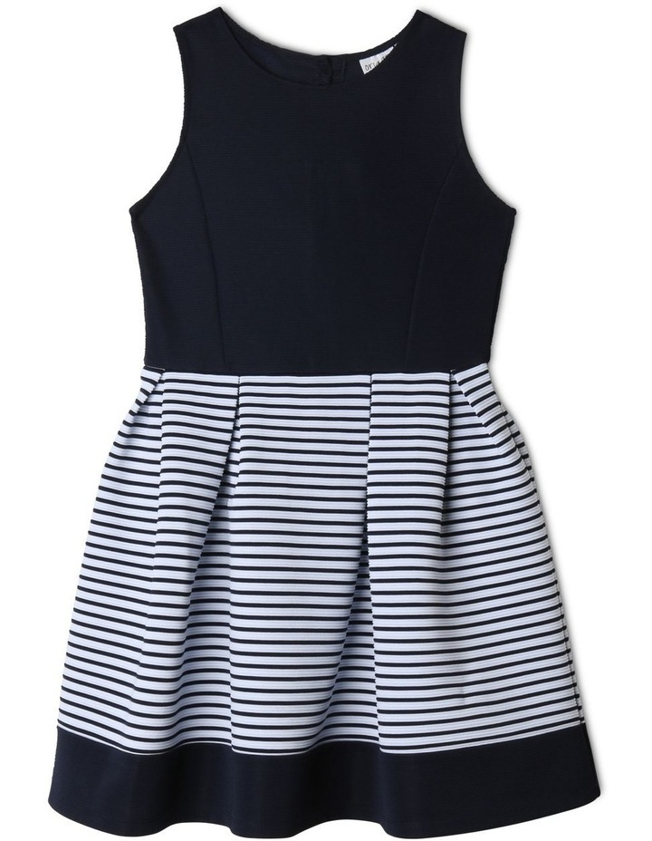 Annabelle Knitted Stripe Dress (9-16 Years) image 1