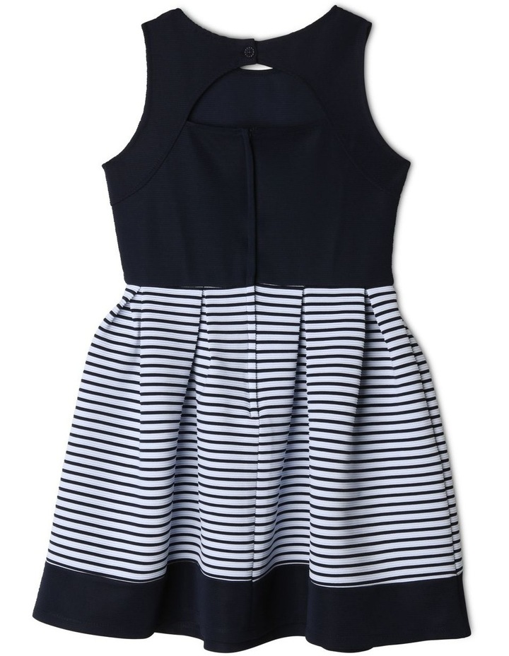 Annabelle Knitted Stripe Dress (9-16 Years) image 2
