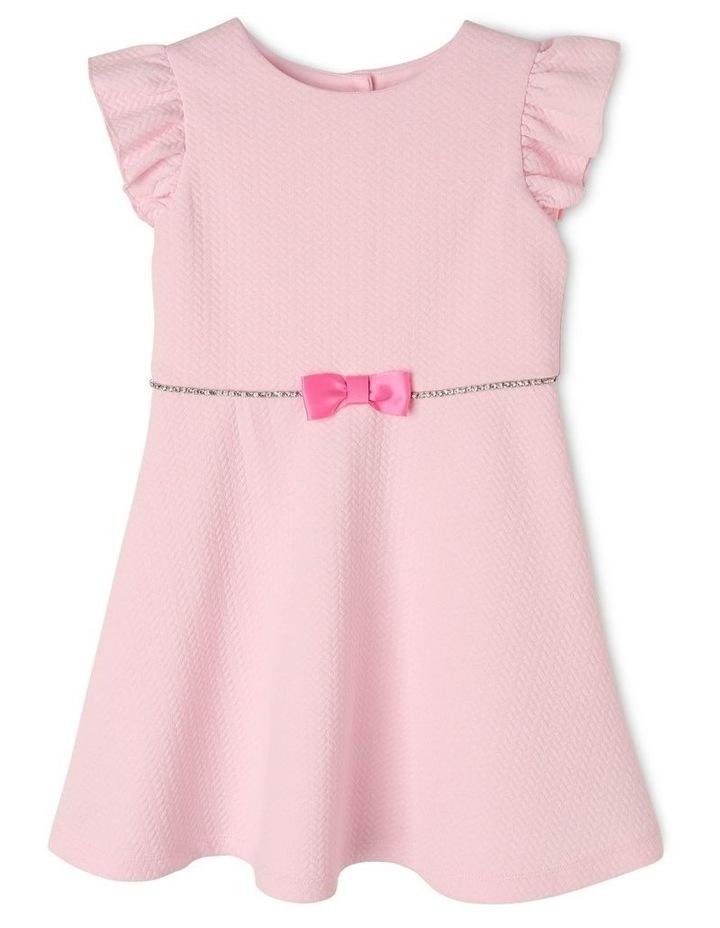 Ava Pink Knit Dress (3-8 Years) image 1