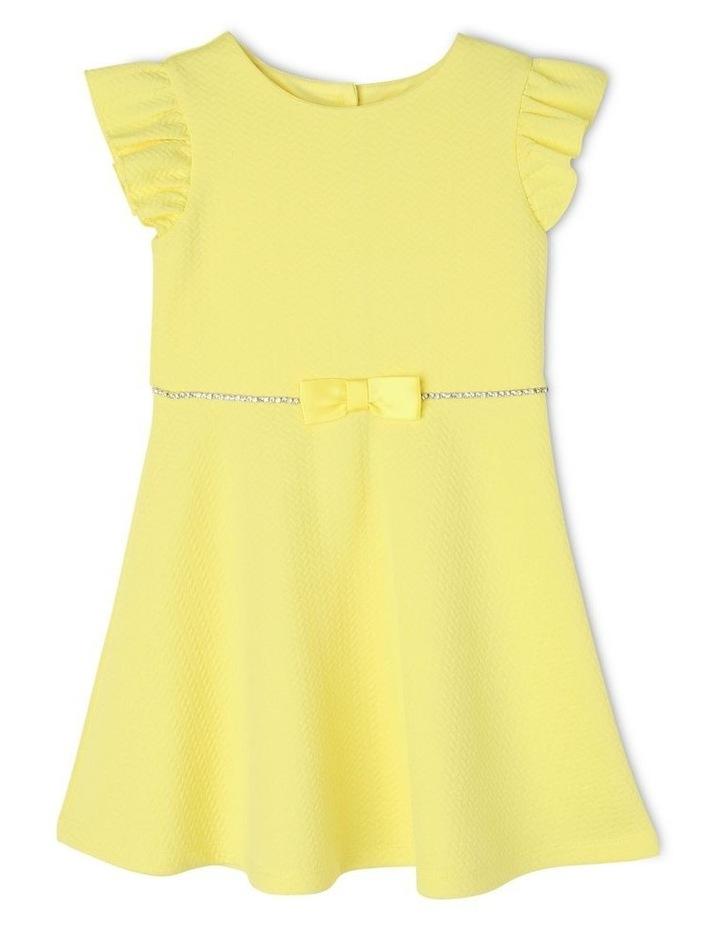 Ava Yellow Knit Dress (3-8 Years) image 1