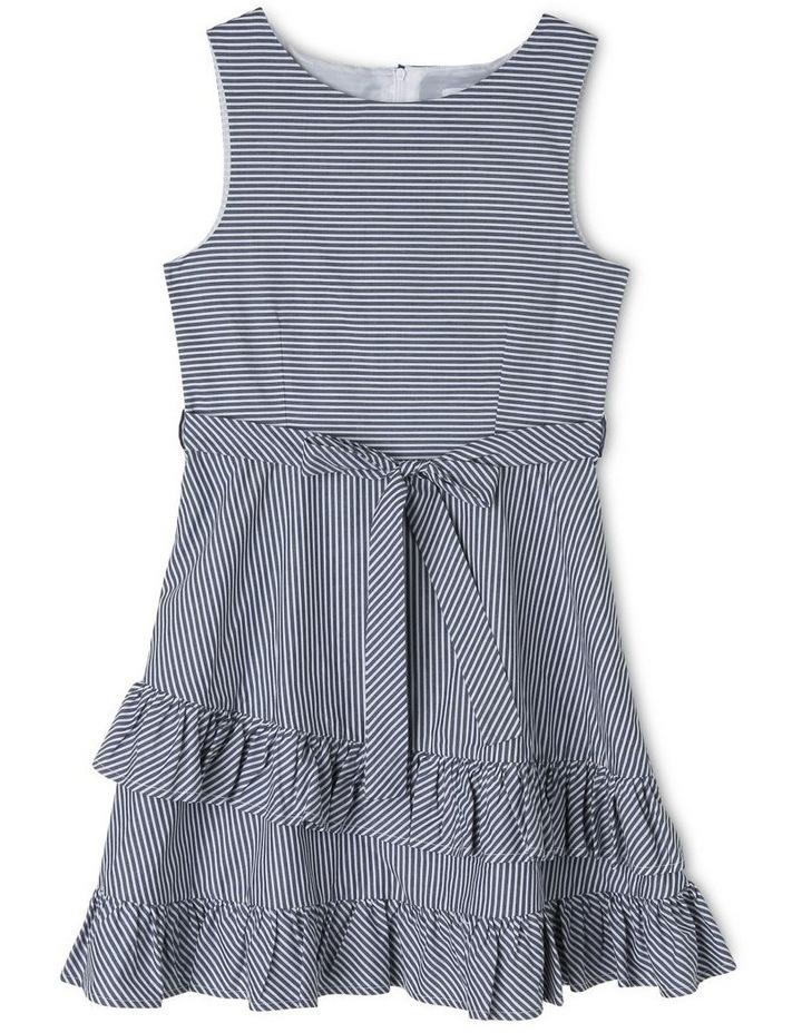 Emma Poplin Stripe Dress (9-16 Years) image 1